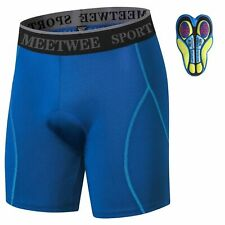 Cycling Shorts Bicycle Bike Underwear Pants With Sponge Gel 4D Padded-Blue Xl