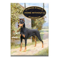DOBERMAN PINSCHER A House Is Not A Home FRIDGE MAGNET 1 Black
