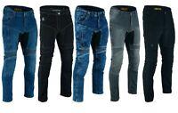 Jeans da per moto con kevlar e protezioni ginocchia e fianchi omologate CE C.E.