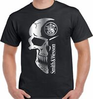 SMITH & WESSON SKULL FIREARMS T-SHIRT - UNISEX TEE HIGH QUALITY
