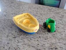 Fisher Price Little People Boat and Tractor/Vehicle