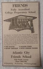1964 Atlantic City Friends School - Atlantic City New Jersey Advertisement