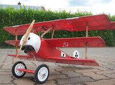 RC 845mm Fokker Dr.I Dr.1Dreidecker 1/8 Roter Baron WWI warbird ARF Holz