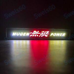 LED JDM Mugen Power Logo Light Car Front Grille Badge Illuminated Decal Sticker
