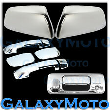 14-16 TOYOTA TUNDRA Double Cab Chrome Mirror+ 4 Door Handle+Tailgate Cam. Cover