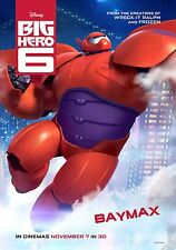 Big Hero 6 (2014) Movie Poster (24x36) - Ryan Potter, Scott Adsit, Baymax NEW v3