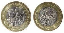 Mexico 20 Pesos 15 g Bi-Metallic Copper-Nickel Coin, 2014, Mint, Veracruz