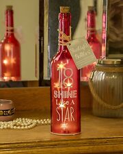 18th Birthday Starlight Bottle, Red Gift for her girls by Boxer