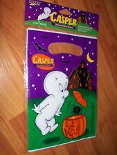 Vintage 1999 Paper Art 8pk Casper Halloween Loot Bags NEW OLD STOCK