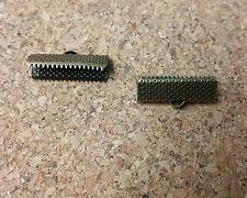 50 PCS - 20MM Ribbon End Crimps Clamp Loop Bronze R0009