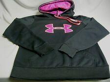 Under Armour Sz Medium M Hoodie Semi Fitted Sweatshirt Black Pink