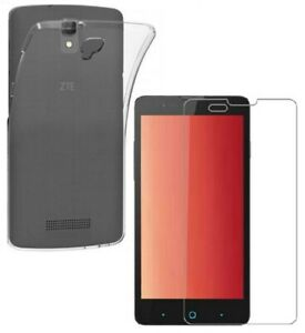 For ZTE BLADE L5 CLEAR CASE + TEMPERED GLASS SCREEN PROTECTOR SHOCKPROOF COVER