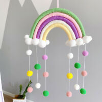 Rainbow Cloud Tapestries Macrame Felt Cotton Woven Baby Hanging Wall Home Decor