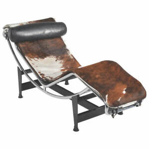 Le Corbusier LC4 Chaise Lounge with Pony Hide Cover - Original 1970s