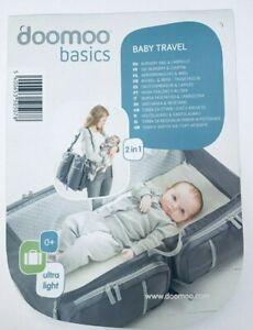 Doomoo Basics Baby Reisetasche / Reisebett Grau
