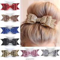 Girls Hairpin Bling Bowknot Barrette Crystal Hair Clip Bow Accessories Xmas Gift