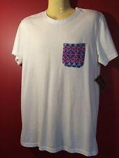BEAUTIFUL GIANT Men's Crewneck T-shirt with Geometric Pocket - Size Small - NWT