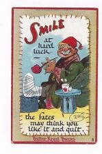 Antique 1913 Tuck Post Card Signed DWIG Advertises Butter-Krust Bread