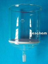 5000ml,24/40,Glass Buchner Funnel,5 Litre,3# Core Filter,Lab Chemical Glassware