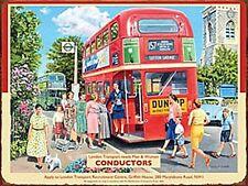 London Transport Conductors large steel sign 400mm x 300mm (og)
