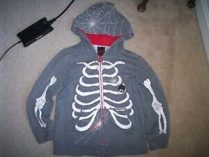Tony Hawk Skeleton Bone Hooded Sweatshirt Zip Hoodie Boys Size S Kohl's FREE SHP