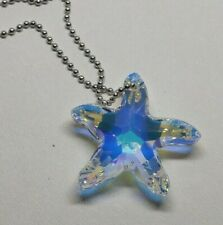 Swarovski Crystal Clear AB 30mm Starfish Suncatcher Ornament Rearview Mirror