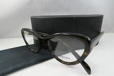 Prada VPR 25R 2AU-1O1 Dark Tortoise New Women Authentic Eyeglasses 52mm w/case