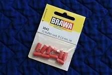 BRAWA 3042 Old Style Red Sockets for Marklin, 2,5 mm, 10 pk, New Ships Fast