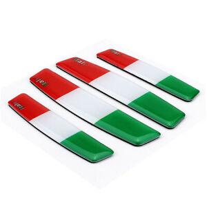 4PCS IT Italy Badge AR DOOR BUMPER STRIP Decal Emblem Sticker For IT Luxury Car