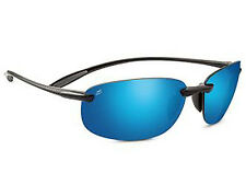 Serengeti NUVINO Sunglasses Shiny Black Polarized PhD 555 Blue Mirror 8270