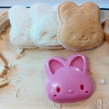 Lindo Conejo Bunny Forma Sándwich Cortador Pastel de pan tostadas Molde Diversión De Pascua