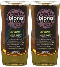 Biona Agave Sirop Léger organique - 250 g (Pack de 2)