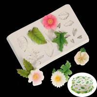 Silicone 3D Leaves Fondant Mould Cake Decor Baking Icing Sugarcraft Mold Tool MA