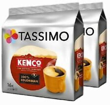 2 x Packs Tassimo Kenco 100% Colombian T Discs Pods - 32 T Discs 32 Large Drinks