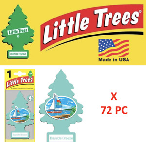 Little Trees Freshener 17121 Bayside Breeze MADE IN USA Pack  of 72