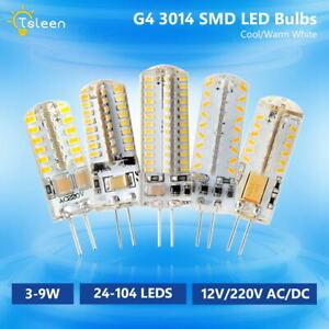 G4 3014 SMD 3/5/6/8/9W LED Lámpara Silicona Bombilla Spotlight 12V DC 12V AC/DC