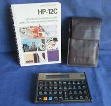 Hewlett-Packard Finanzrechner HP-12C, Kalkulator mit Bedienungshandbuch + Hülle