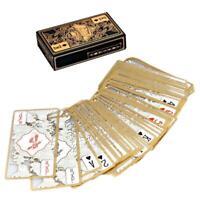 hot Gold Edge Poker Playing Cards Set Waterproof Transparent PVC Dragon Novelty