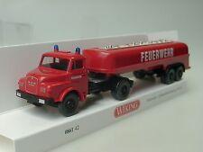 Wiking MAN Pompier Puait de gros camion de pompier - 0861 42 - 1:87