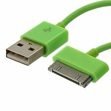 Green 30-Pin USB Data Sync Charging Cable Charger Lead for Apple iPhone 4/4s UK
