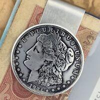 New Handmade Credit Card Money Clip Wallet Silver Morgan Dollar Antique Coin