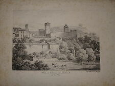 Grande Litho CONSTANT BOURGEOIS CHATEAU L'ARBRESLE RHONE LYONNAIS LYON 1820