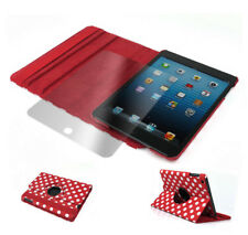 CASE COVER+SCREEN PROTECTOR SWIVEL 360 ROTATING PU RED DOT IPAD 2ND 3RD 4TH GEN