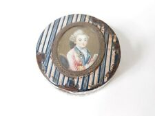 Box Round Decorated A Miniature Painted Executive Board Period 19th