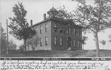 F43/ Neligh Nebraska RPPC Postcard 1908 Gates' Academy Building