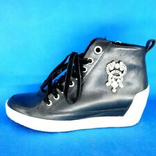 Marc Cain Damen Schuhe Sneaker Wedge Gr 38 Leder Schwarz Hidden Heels Np 229 Neu