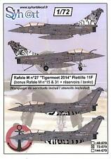 Syhart Decals 1/72 DASSAULT RAFALE M Tigermeet 2014 Flotille 11F