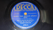 HARRY HORLICK O Come All Ye Faithful / Hark The Herald Angels Sing 78 Decca 2784