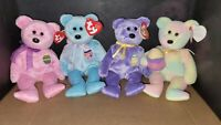 TY Easter Beanie Baby Bears Eggs 1, 2, 3 and 2006.  Excellent shape, rare