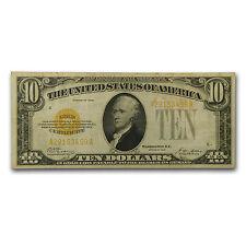 1928 $10 Gold Certificate Vf - Sku #17595